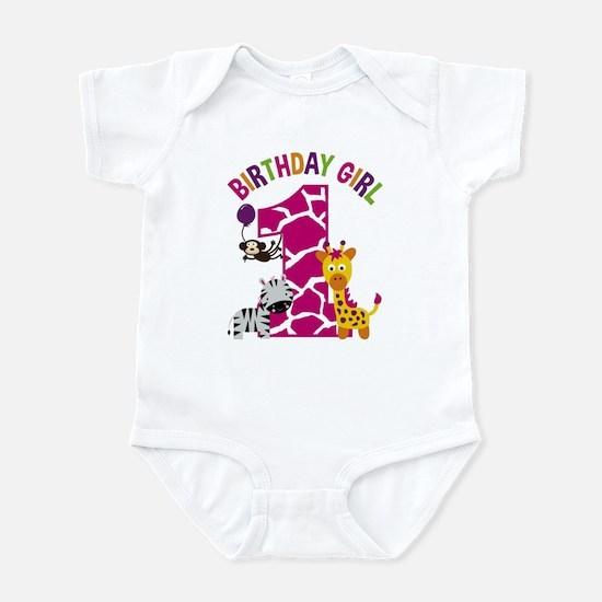 Girl Jungle 1st Birthday Body Suit