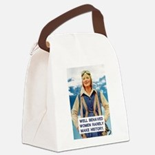 Well Behaved Women Canvas Lunch Bag