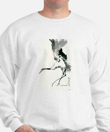 watercolor sandhill Sweatshirt