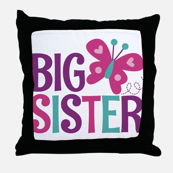 Butterfly Big Sister Throw Pillow
