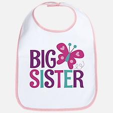 Butterfly Big Sister Baby Bib