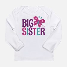 Butterfly Big Sister Long Sleeve T-Shirt