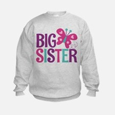 Butterfly Big Sister Sweatshirt