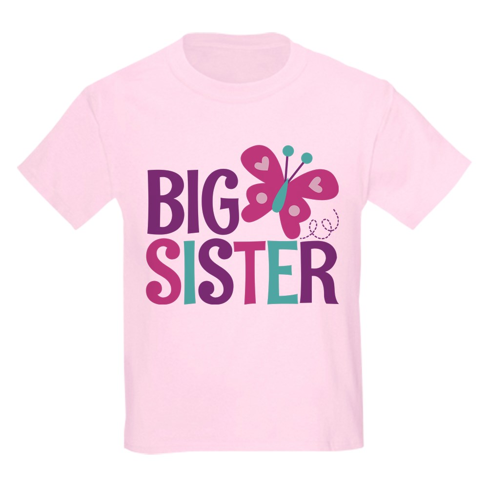 CafePress Butterfly Big Sister T Shirt Kids Light T-Shirt 2041766180