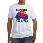 SUPPORT GAY RITES Fitted T-Shirt