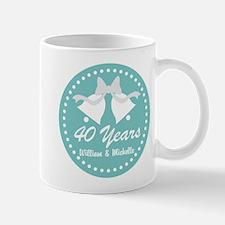 40th Anniversary Personalized Gift Mugs