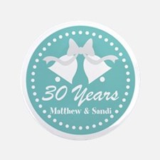 30th Anniversary Personalized Gift Button