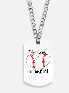 Baseball Heart Dog Tags