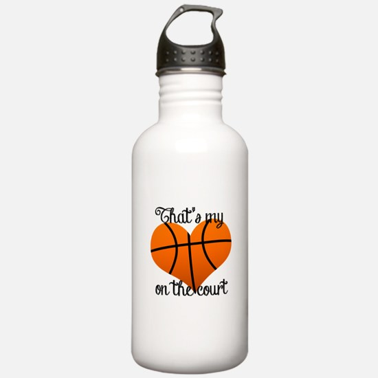 Basketball Heart Water Bottle