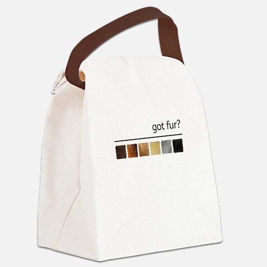got fur?-Gay Bear Pride Flag Canvas Lunch Bag