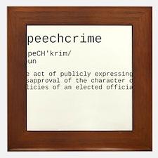 Speechcrime defined Framed Tile