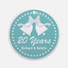 20th Anniversary Personalized Gift Round Ornament