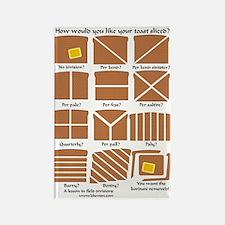 Heraldic Toast Rectangle Magnet