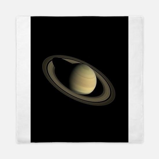 Saturn Portrait by Cassini Queen Duvet