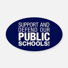 Support Public Schools Oval Car Magnet