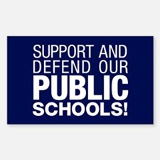 Support Public Schools Sticker (rectangle)