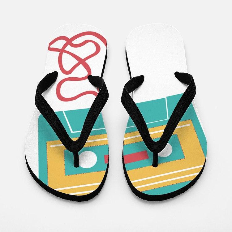 Cute Cool art Flip Flops