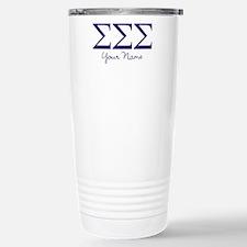 Sigma Sigma Sigma Greek Stainless Steel Travel Mug