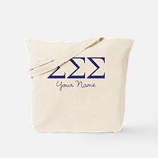 Sigma Sigma Sigma Greek Letters Personali Tote Bag