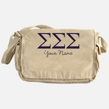 Sigma Sigma Sigma Greek Letters Pers Messenger Bag