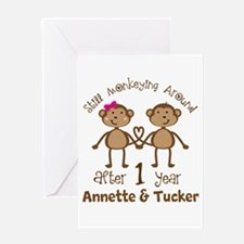 Funny 1st Anniversary Personalized Greeting Cards