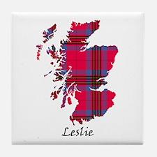 Map - Leslie Tile Coaster