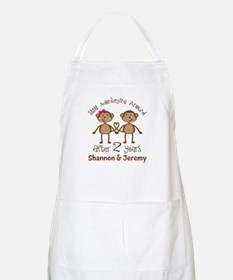 Funny 2nd Anniversary Personalized Apron