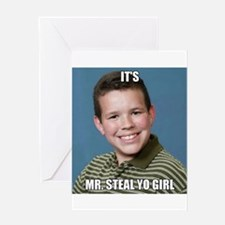 Unique Steal Greeting Card