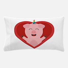 Unicorn Pig in Heart Pillow Case