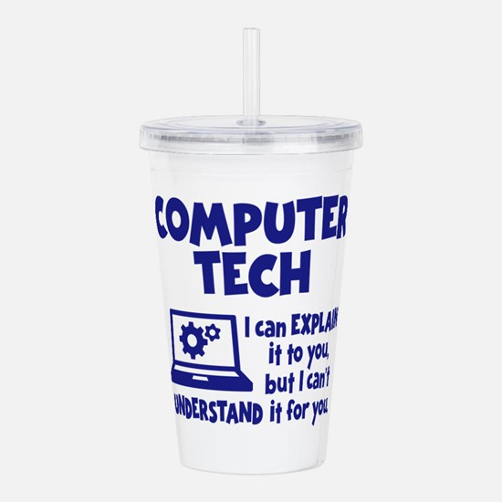COMPUTER TECH Acrylic Double-wall Tumbler