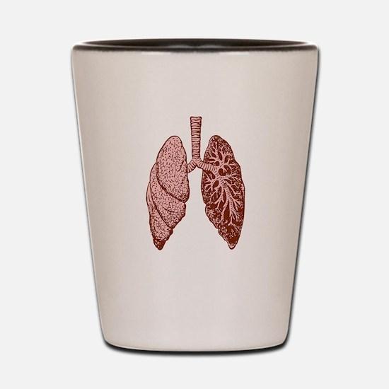 LUNGS Shot Glass