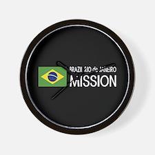 Brazil, Rio de Janeiro Mission (Flag) Wall Clock