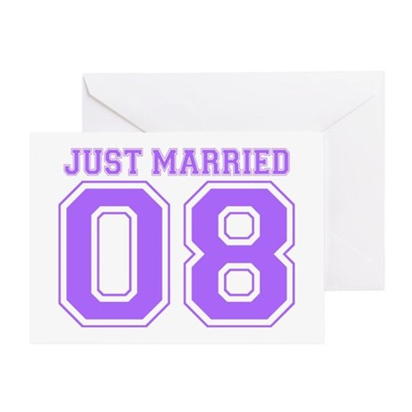 Just Married 08 (Purple) Greeting Card