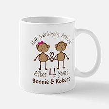 4th Anniversary Personalized Gift Mugs