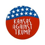 Kansas Against Trump Button