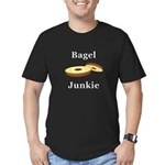 Bagel Junkie Men's Fitted T-Shirt (dark)