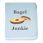 Bagel Junkie baby blanket