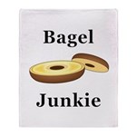 Bagel Junkie Throw Blanket