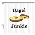 Bagel Junkie Shower Curtain