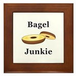Bagel Junkie Framed Tile