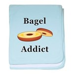 Bagel Addict baby blanket