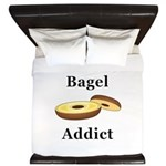 Bagel Addict King Duvet