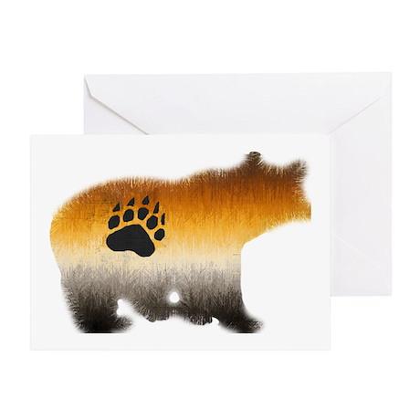 BEAR PRIDE FURRY BEAR 2/WOOF Greeting Card