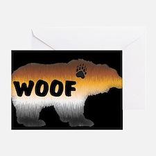 PRIDE BEAR/WOOF/BLK Greeting Card