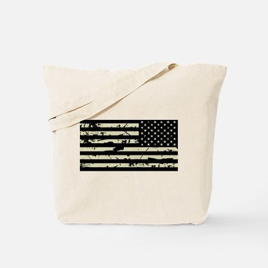Weathered Reverse U.S. Flag (Sand) Tote Bag