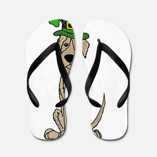 Cute Irish wolfhound Flip Flops