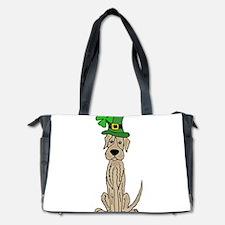 Irish Wolfhound St. Patrick's Day Diaper Bag