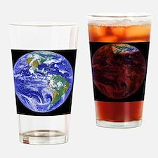 Cute Space shuttle Drinking Glass
