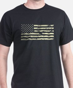 Weathered U.S. Flag (Sand) T-Shirt