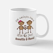 6th Anniversary Personalized Gift Mugs